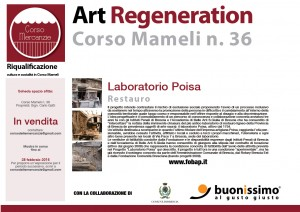 Art Regeneration Corso Mameli - Laboratorio Poisa